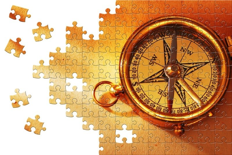 Compass-Puzzle