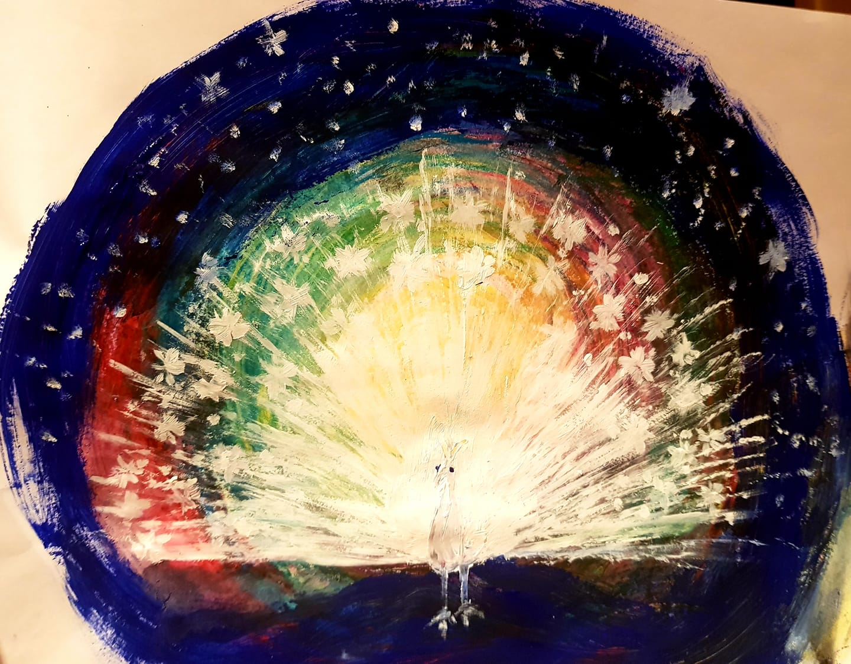 Cosmic Peacock by Deirdre Siobhán Murphy