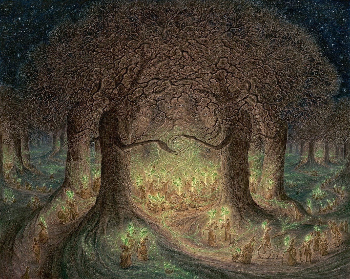 """""""In the Heart of the Woodland Wakes"""" by Virginia Lee"""